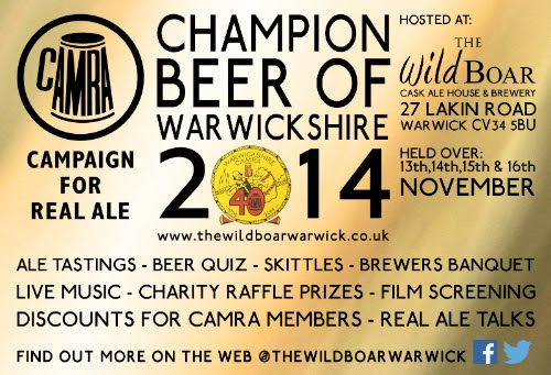 Champ beer of Warwick