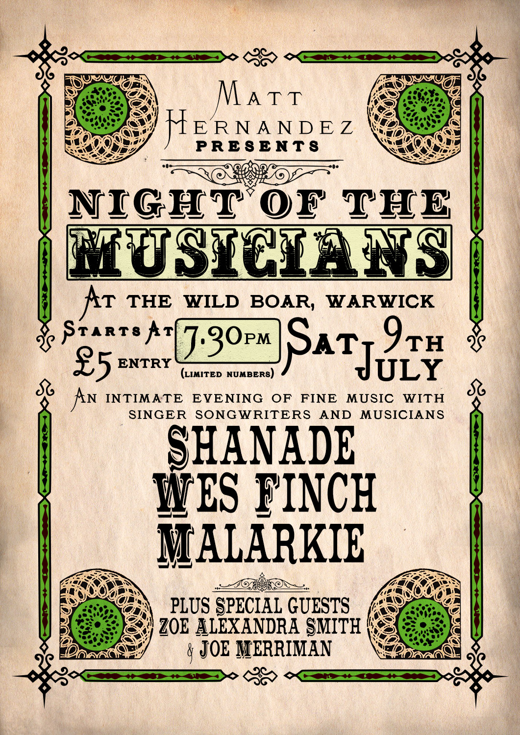 Night Of The Musicians Poster