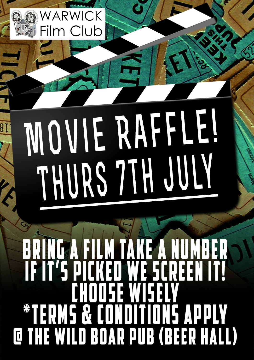 film club movie raffle