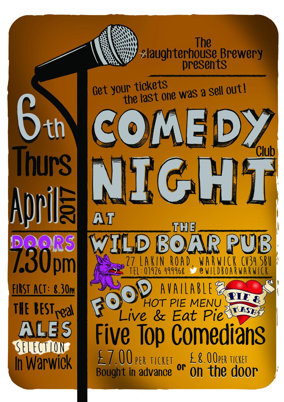 Comedy night at the wild boar