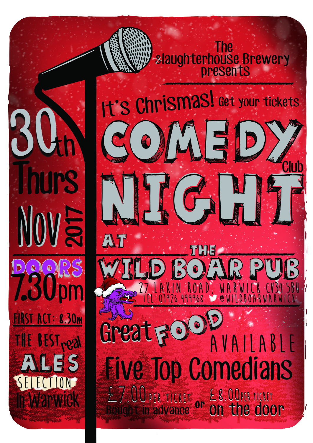 comedy night poster 30th Nov