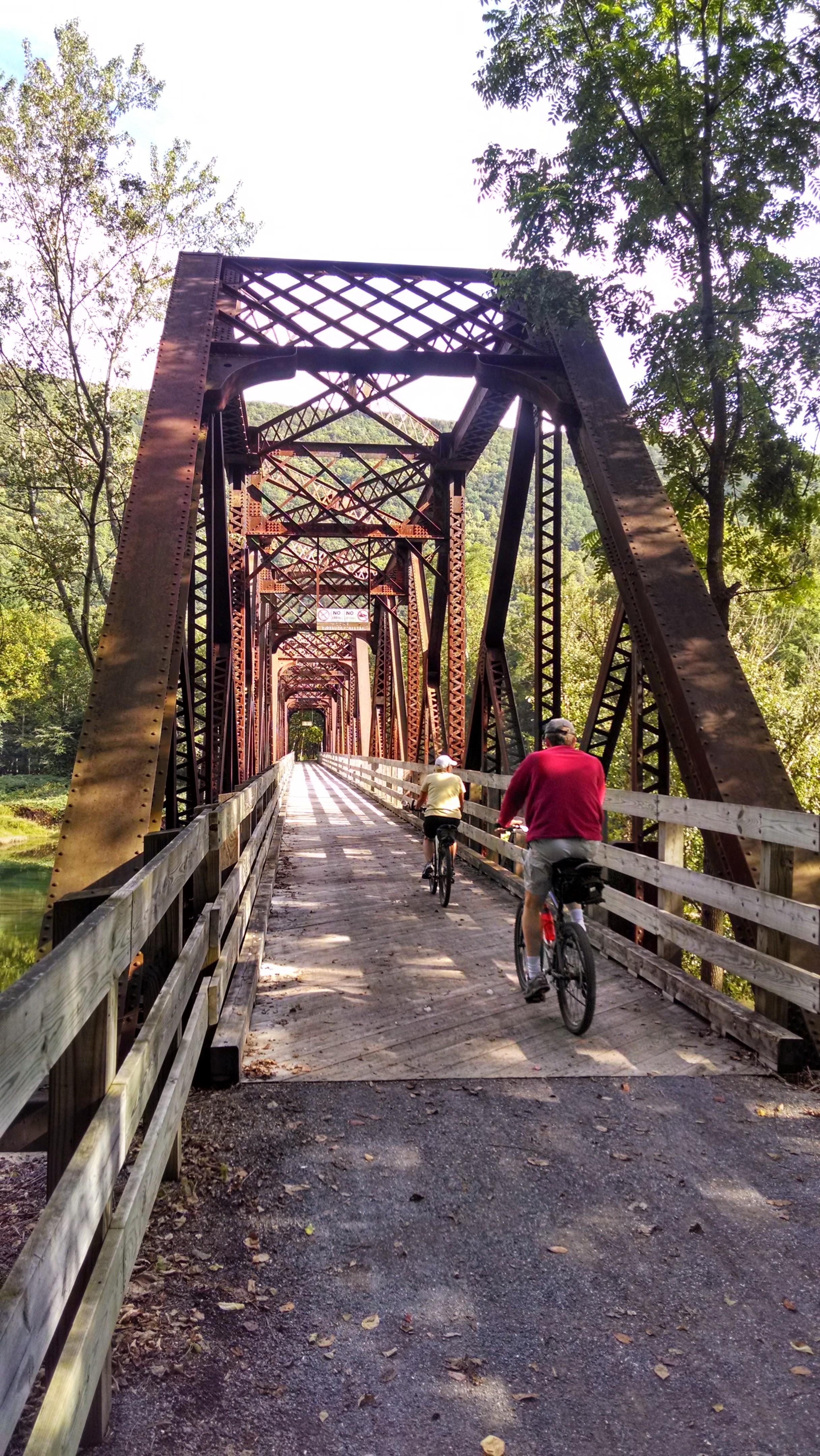 64 mile  Pine Creek Rail Trail  that runs through Ramsey Village.