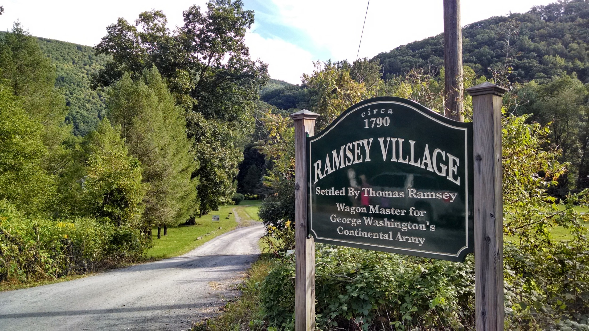 The entrance to  Ramsey Village.
