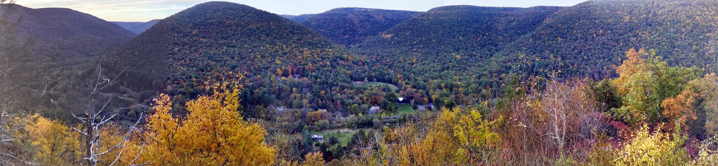 View from one of the trails looking down on Ramsey.