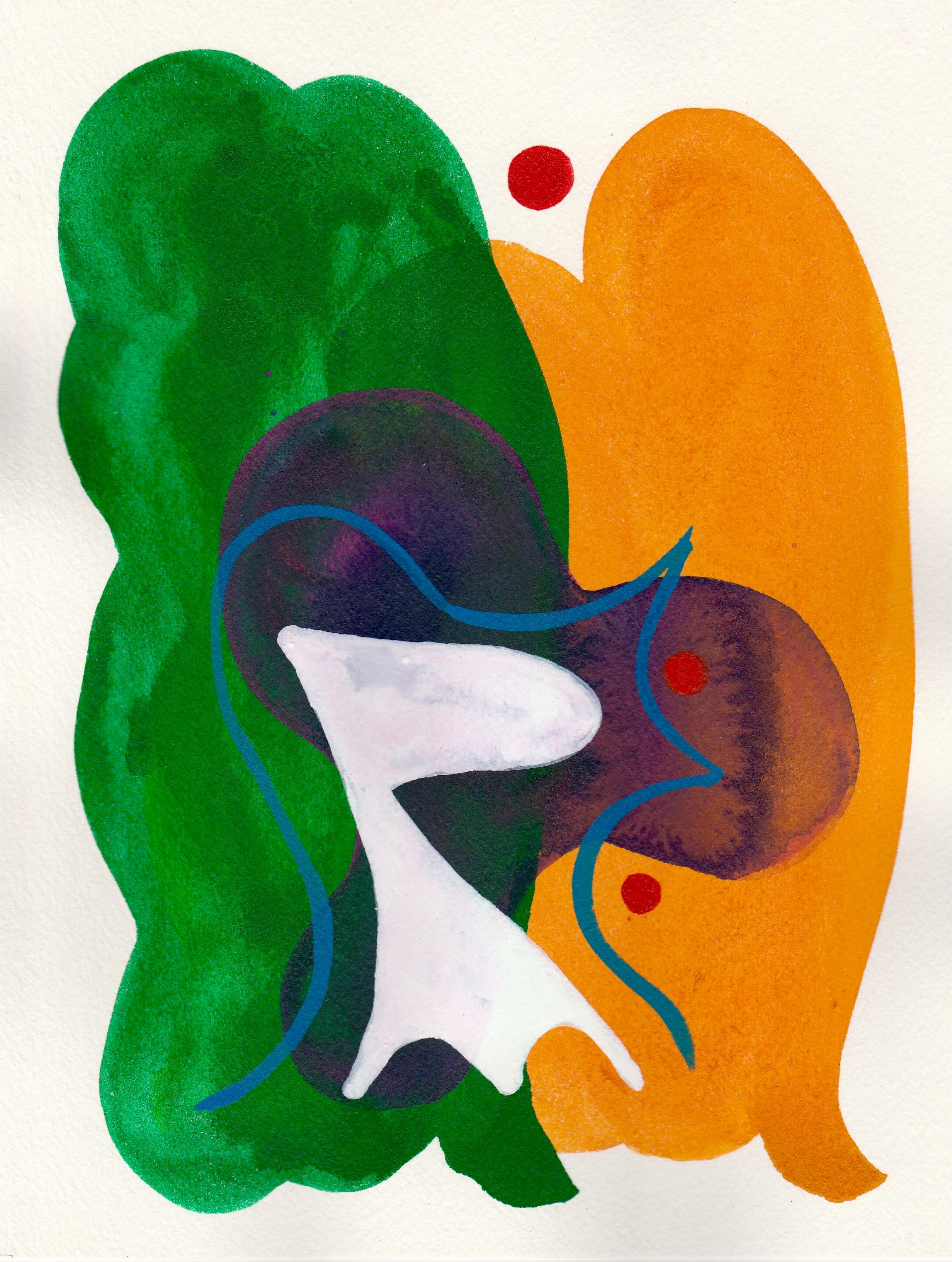 Shape-Up #10   2017  Watercolor, Guache  8.5 x 11 inches