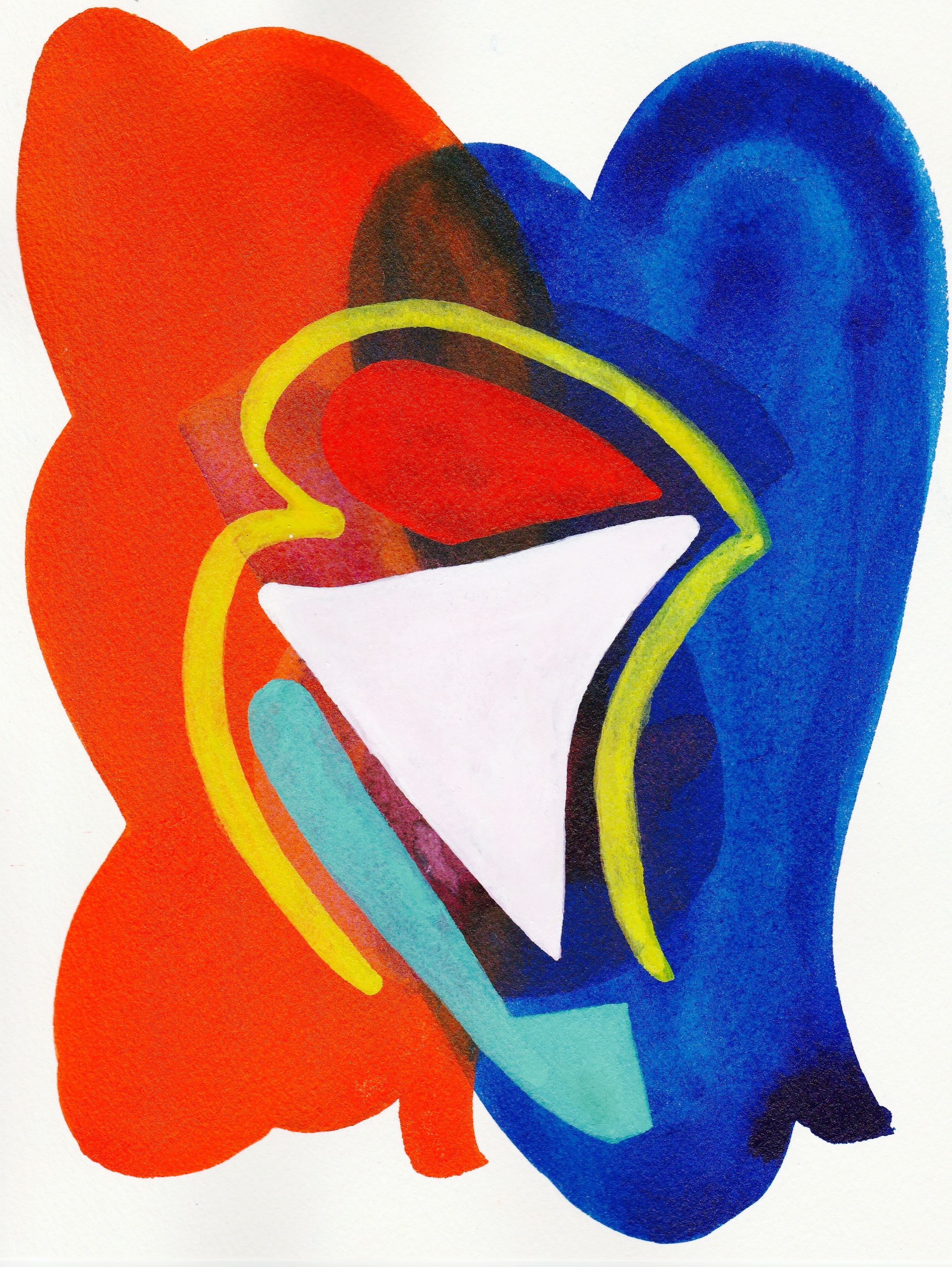 Shape-Up #16   2017  Watercolor, Guache  8.5 x 11 inches
