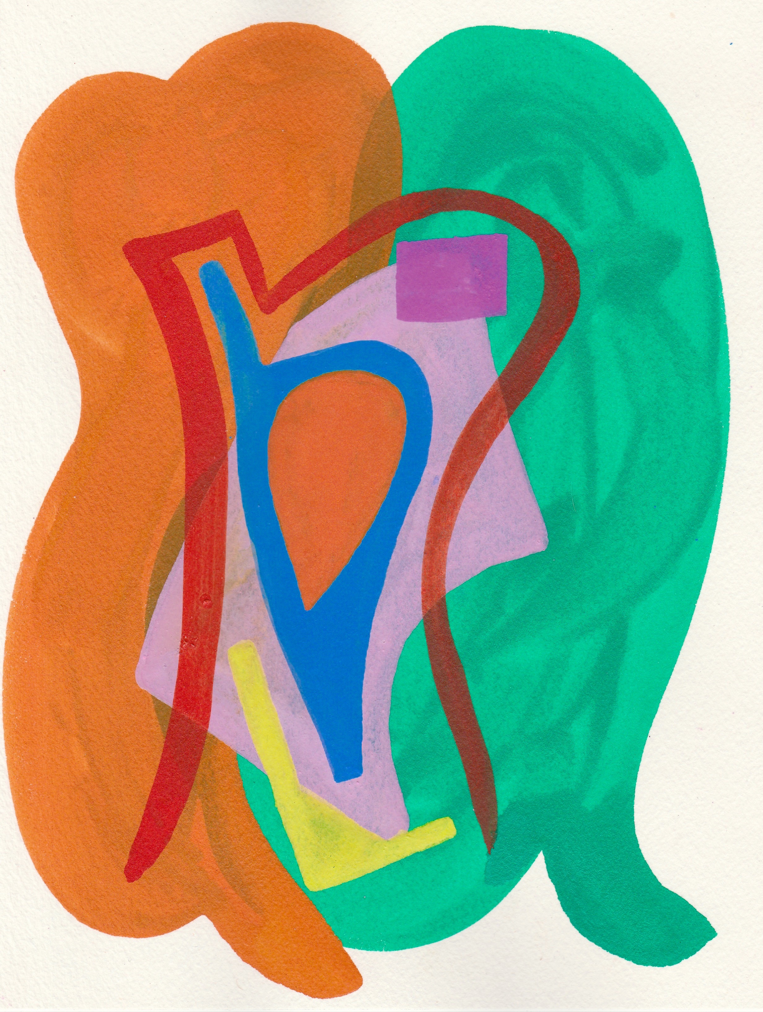 Shape-Up #17   2017  Watercolor, Guache  8.5 x 11 inches