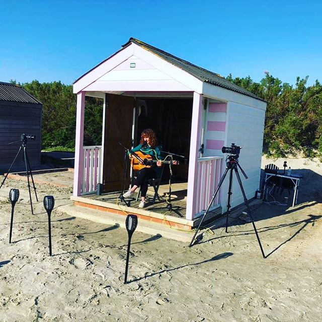 Helluva day down Whittering filming for The Beach Hut Sessions yesterday - thanks for having me 👍🏼 #beachhutsessions #westwhittering #sandybeach #bluesky #beachhut #sweating