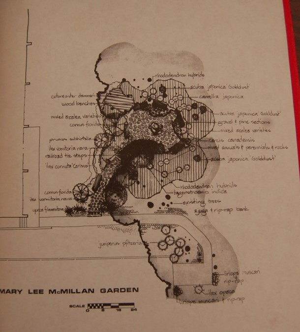 Womens Club of Raleigh Landscaping Plan from 1974