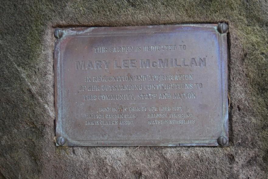 The original dedication plaque remains today