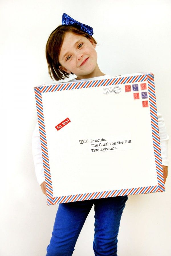 Air Mail Package Costume by  Studio DIY  | Keeper & Co. Blog