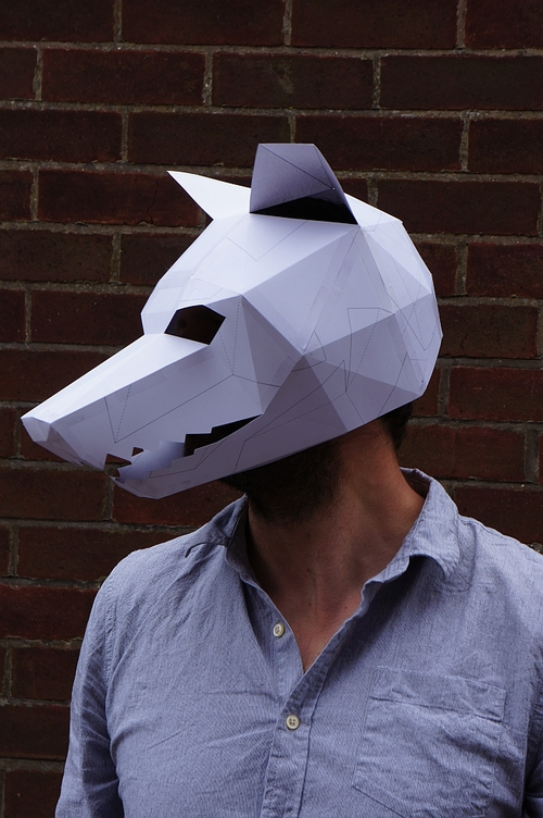 Wolf Mask Template by  Wintercroft  | Keeper & Co. Blog
