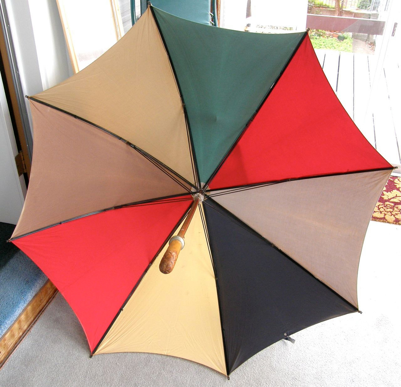 1920s Color Block Umbrella | Once Upon A Time Antiques | Keeper & Co. Blog