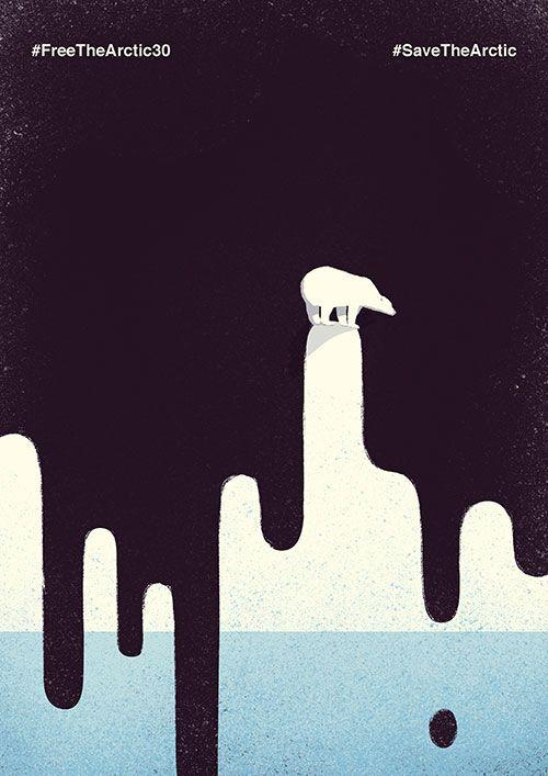 Save the Arctic by Davide Bonazzi for Greenpeace | Keeper & Co. Blog