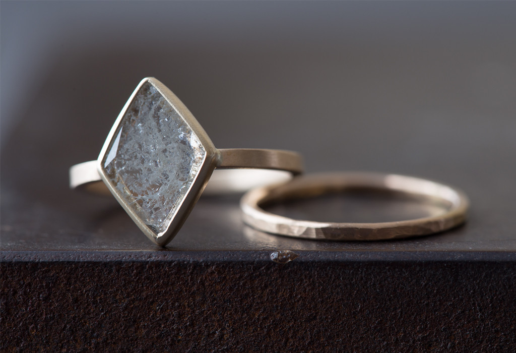 Natural Diamond Slice Ring by Alexis Russell | Keeper & Co.