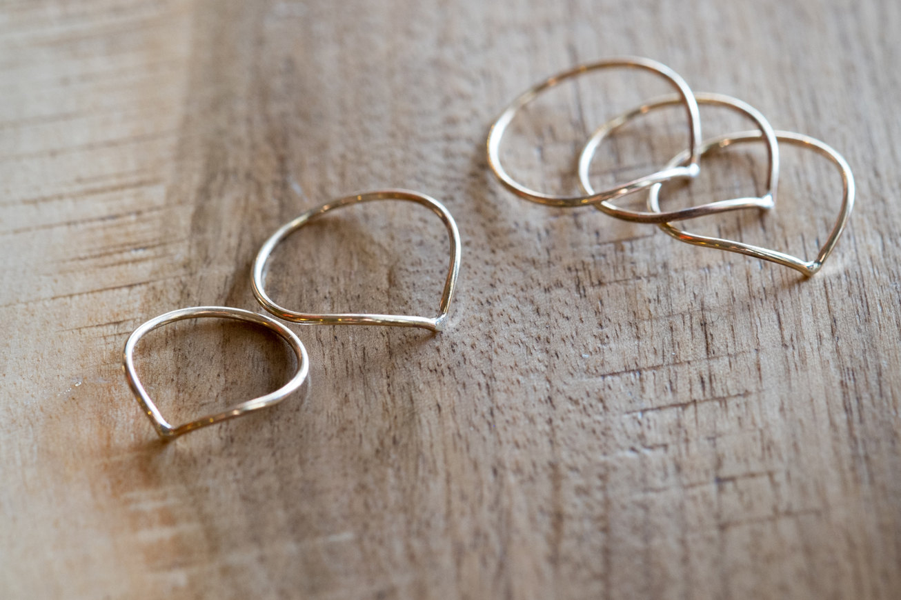 Direction Pointed Stacking Rings by Heavy Meadow | Vancouver, Canada