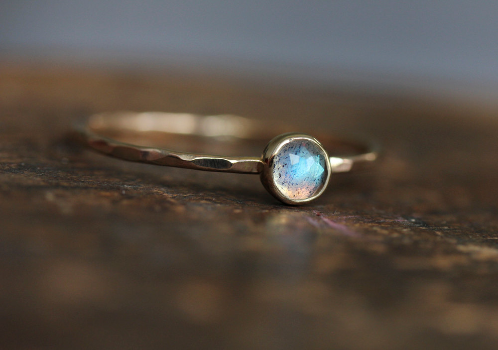 Labradorite and Gold Ring | Thoughtful Eco-Friendly Wedding Rings | Keeper & Co. Blog