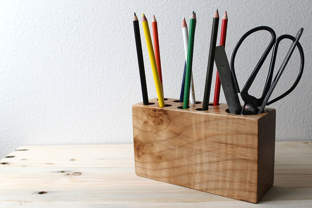 Salvaged Maple Desk Organizer by Design Palette | Finds for Father Figures | Keeper & Co. Blog