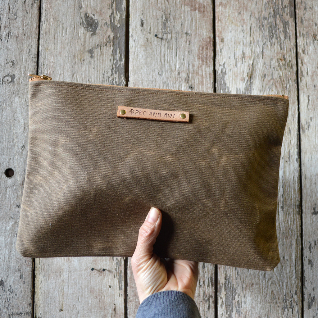 Waxed Canvas Pouch in Truffle by Peg & Awl | Finds for Father Figures | Keeper & Co. Blog