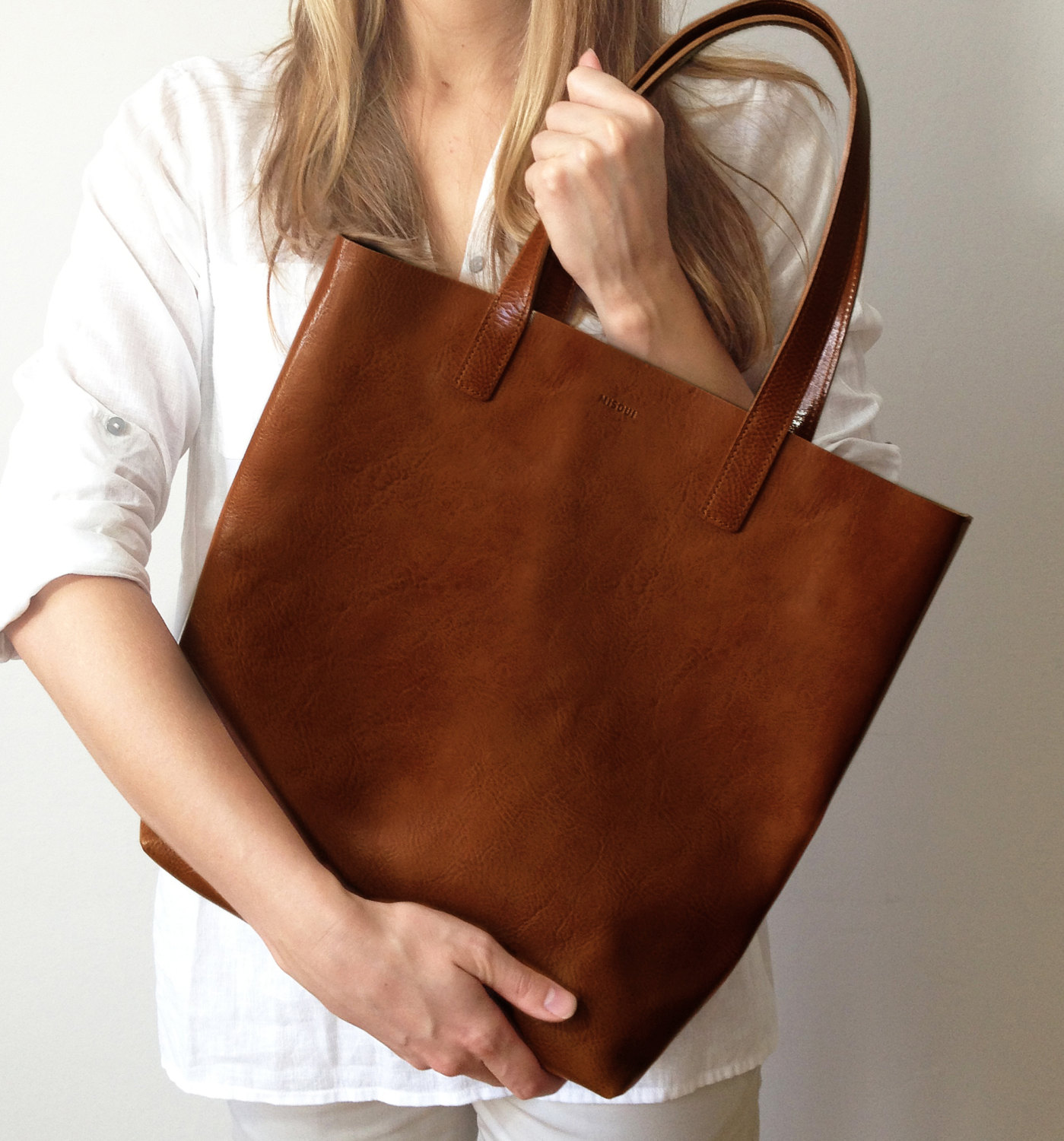 Molly Shopper in Chestnut by Misoui | 6 Eco-Friendly Tote bags | Keeper & Co.