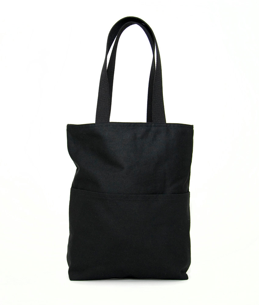 Black Canvas Tote by WAAM Industries | 6 Eco-Friendly Tote bags | Keeper & Co.