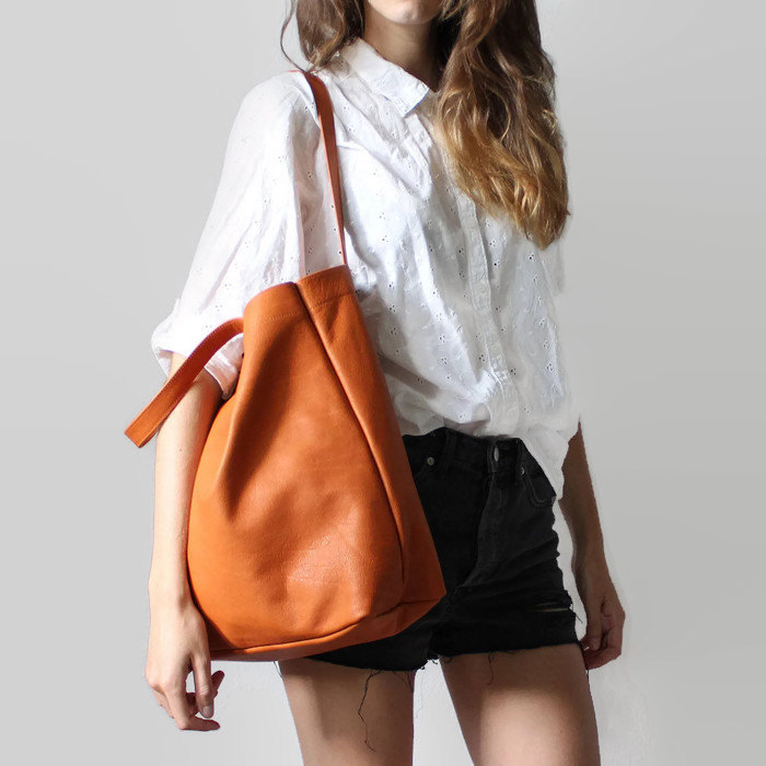 Organic Leather Tote by Sjaelv | 6 Eco-Friendly Tote bags | Keeper & Co.