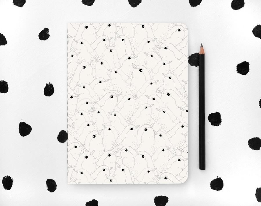 Bird Patterned Notebook