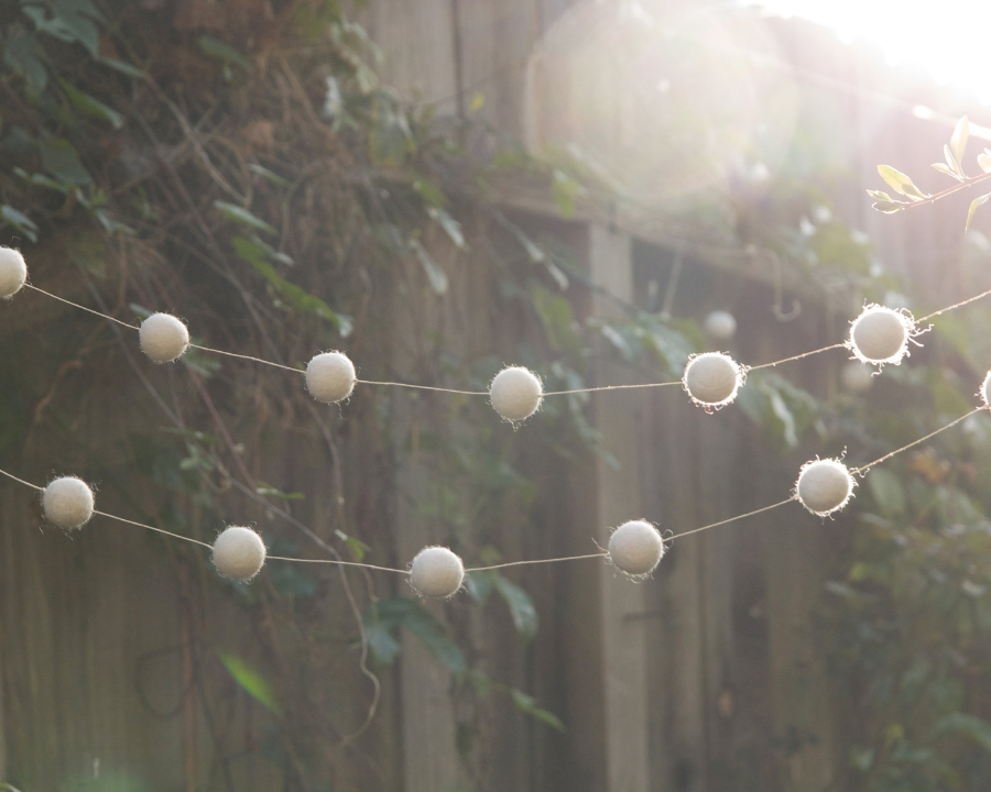 Wool Garland made in California | Ideas for a Simple & Sustainable Christmas Tree | Keeper & Co. Blog
