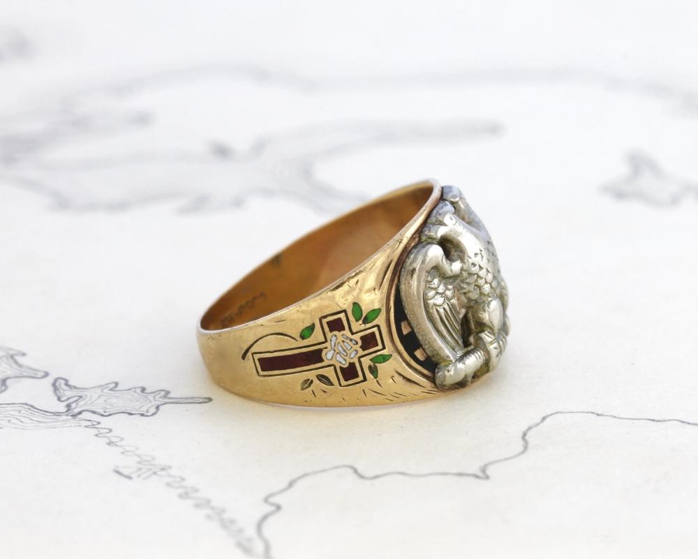1915 Scottish Rite Freemason Signet Ring | Vintage & Ethical Signet Rings | Keeper & Co. Blog