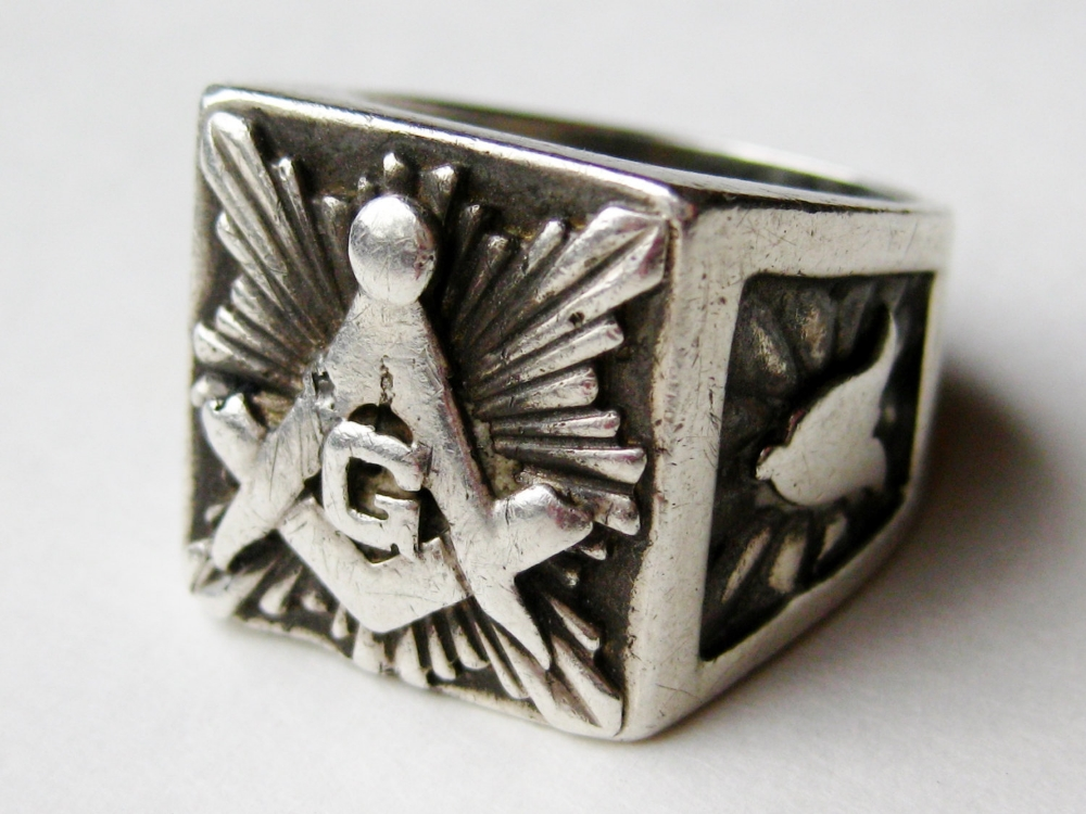 Masonic Square & Compass Signet Ring   Vintage & Ethical Signet Rings   Keeper & Co. Blog