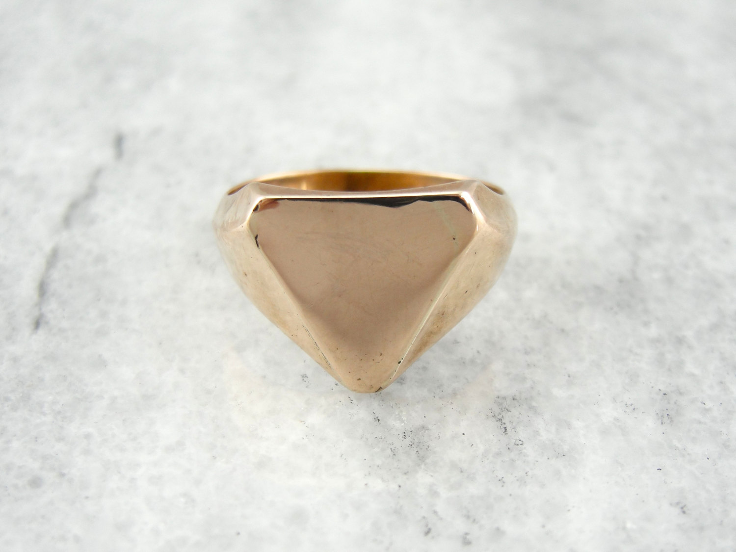 1940s Rosy Gold Signet  |  Vintage & Ethical Signet Rings | Keeper & Co. Blog