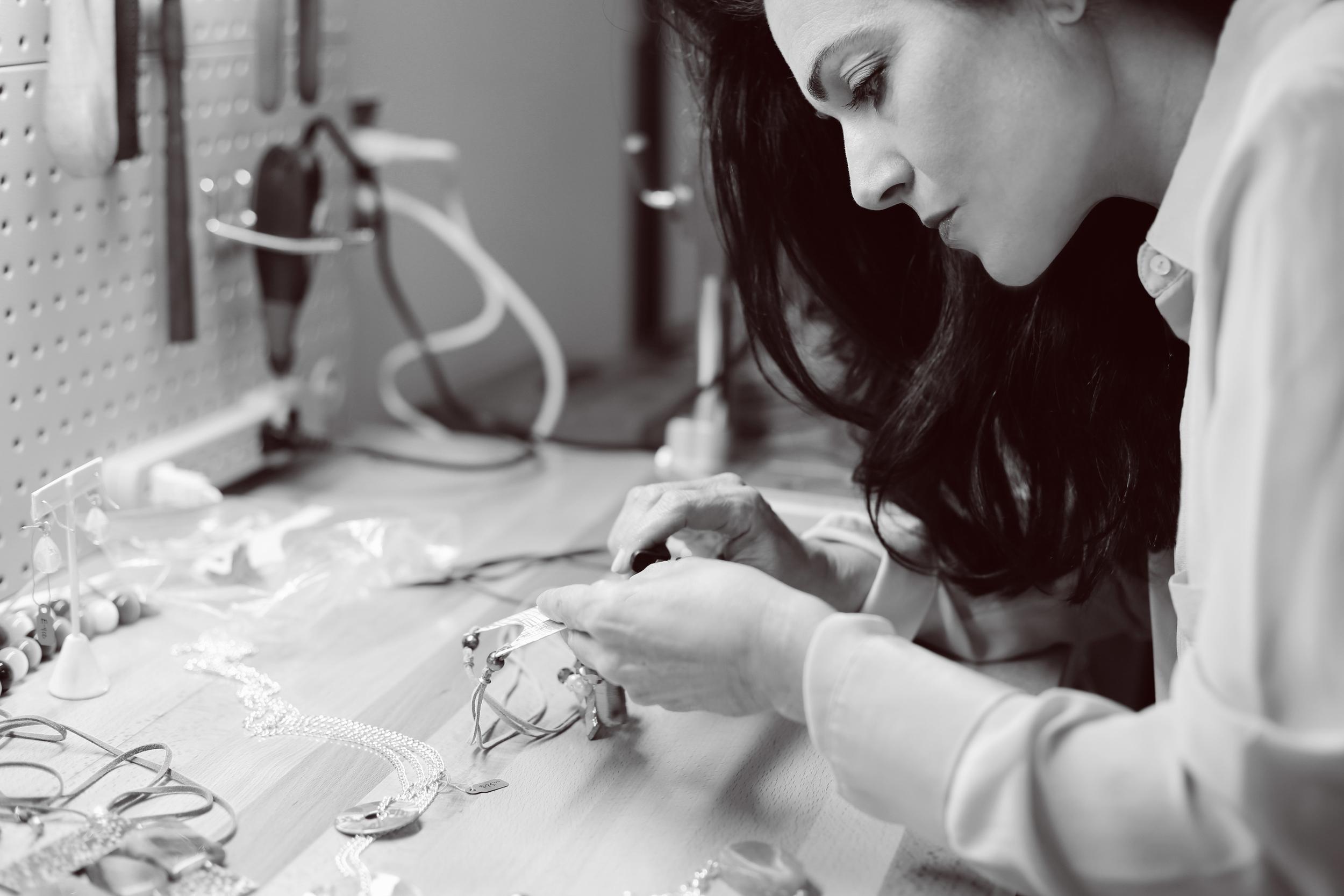 MaggieLlansóat her studio
