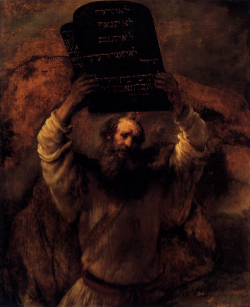 Rembrandt,  Moses Breaking the Tablets of the Law