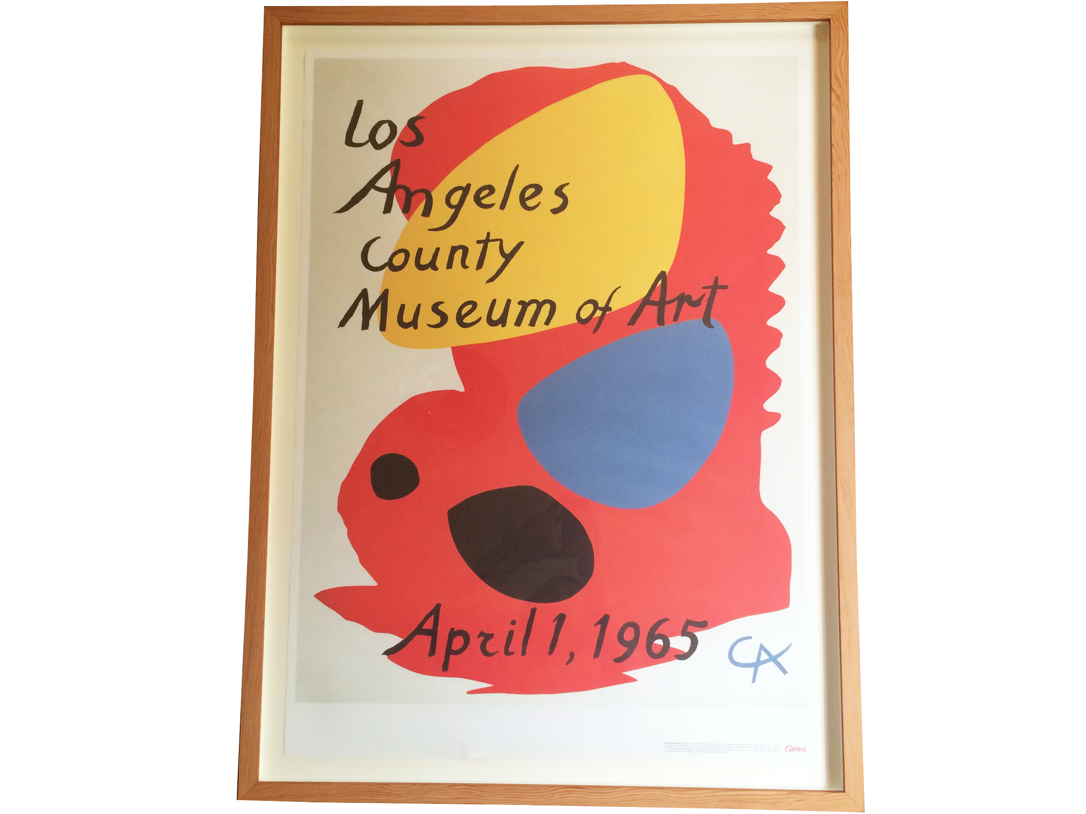 Proper custom framing for this great LACMA poster done in 2016 with reclaimed CVG doug fir helped warm up a beautiful home in LA.