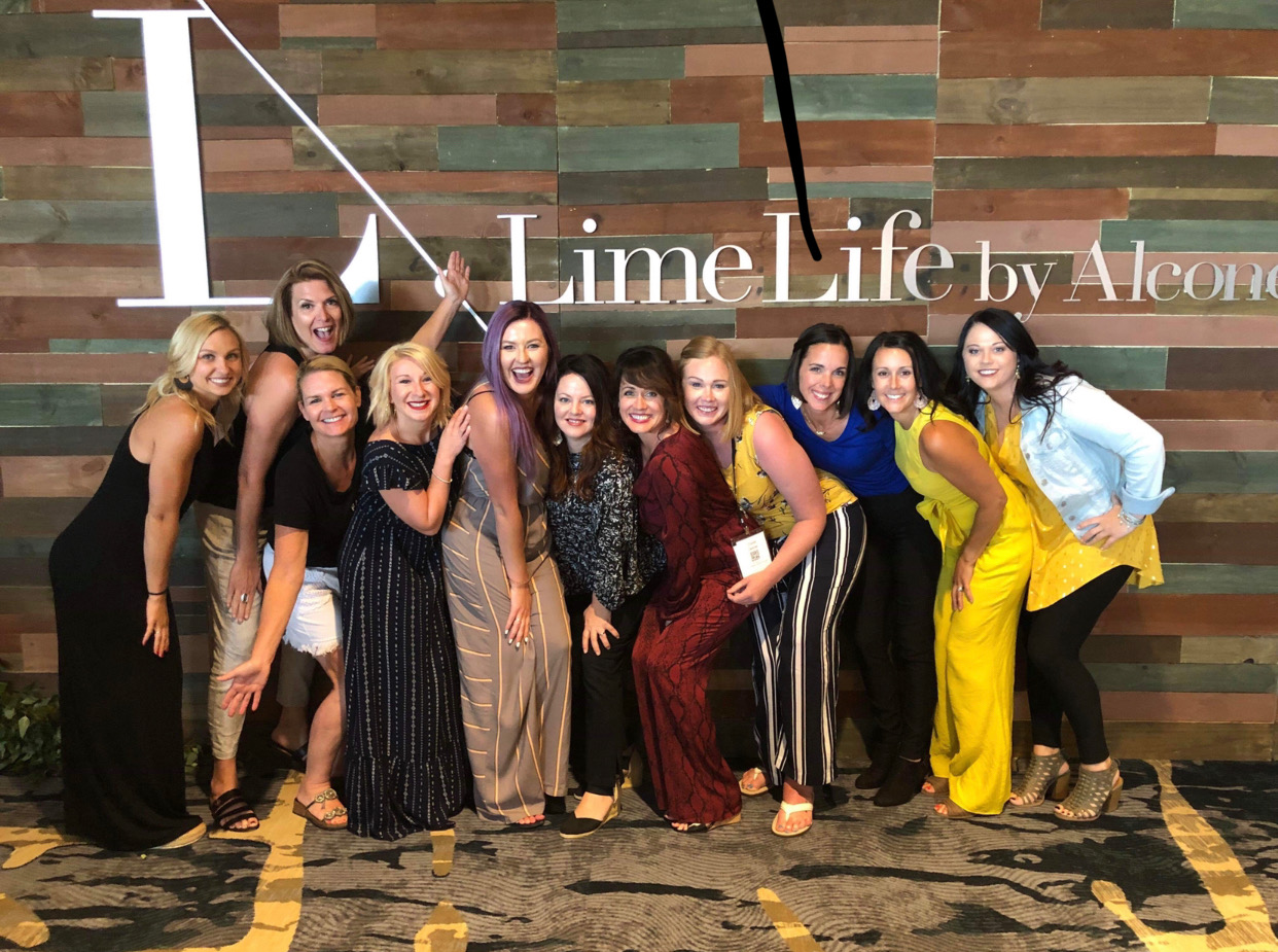 Fearless Beauty Team at LimeLife Palooza annual conference -