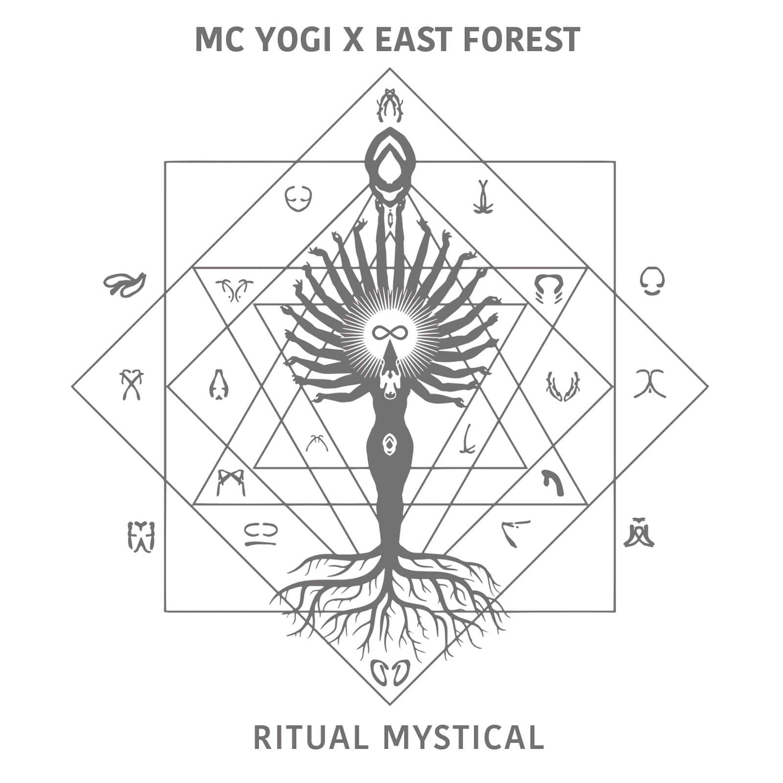 Ritual Mystical , the latest album from MC YOGI [feat. East Forest].  Thanks to YOU : #1 iTunes Electronic | #2 Billboard New Age | #8 Billboard Dance/Electronic.