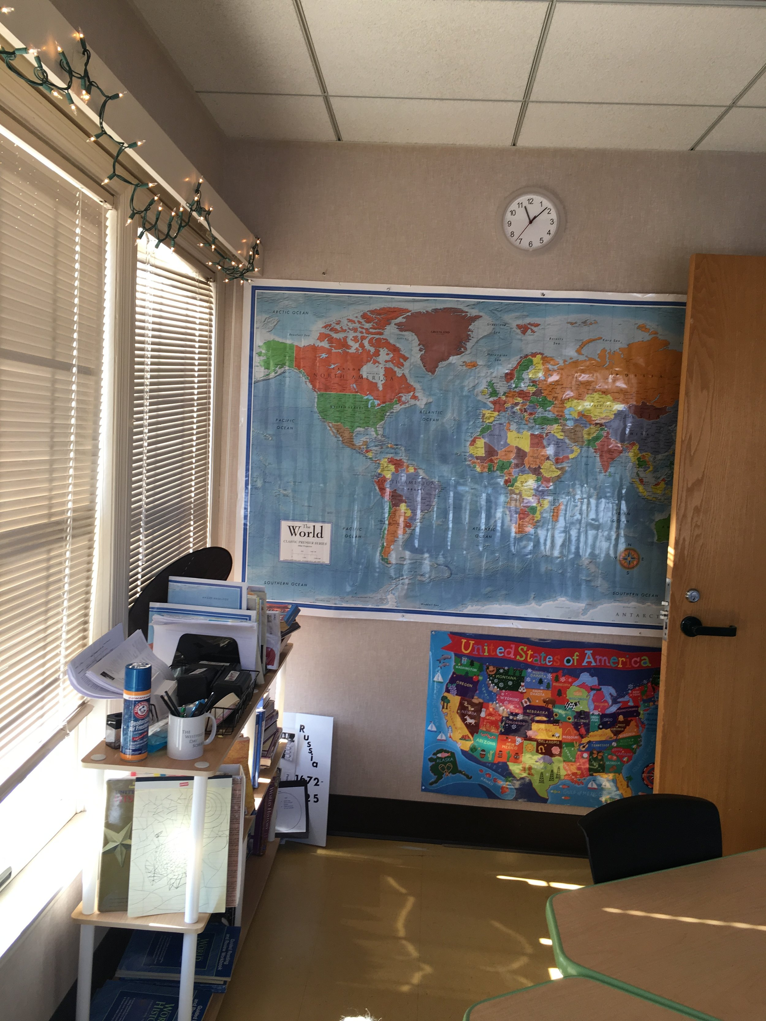 A social studies classroom. Photo by Ilene B. Miller