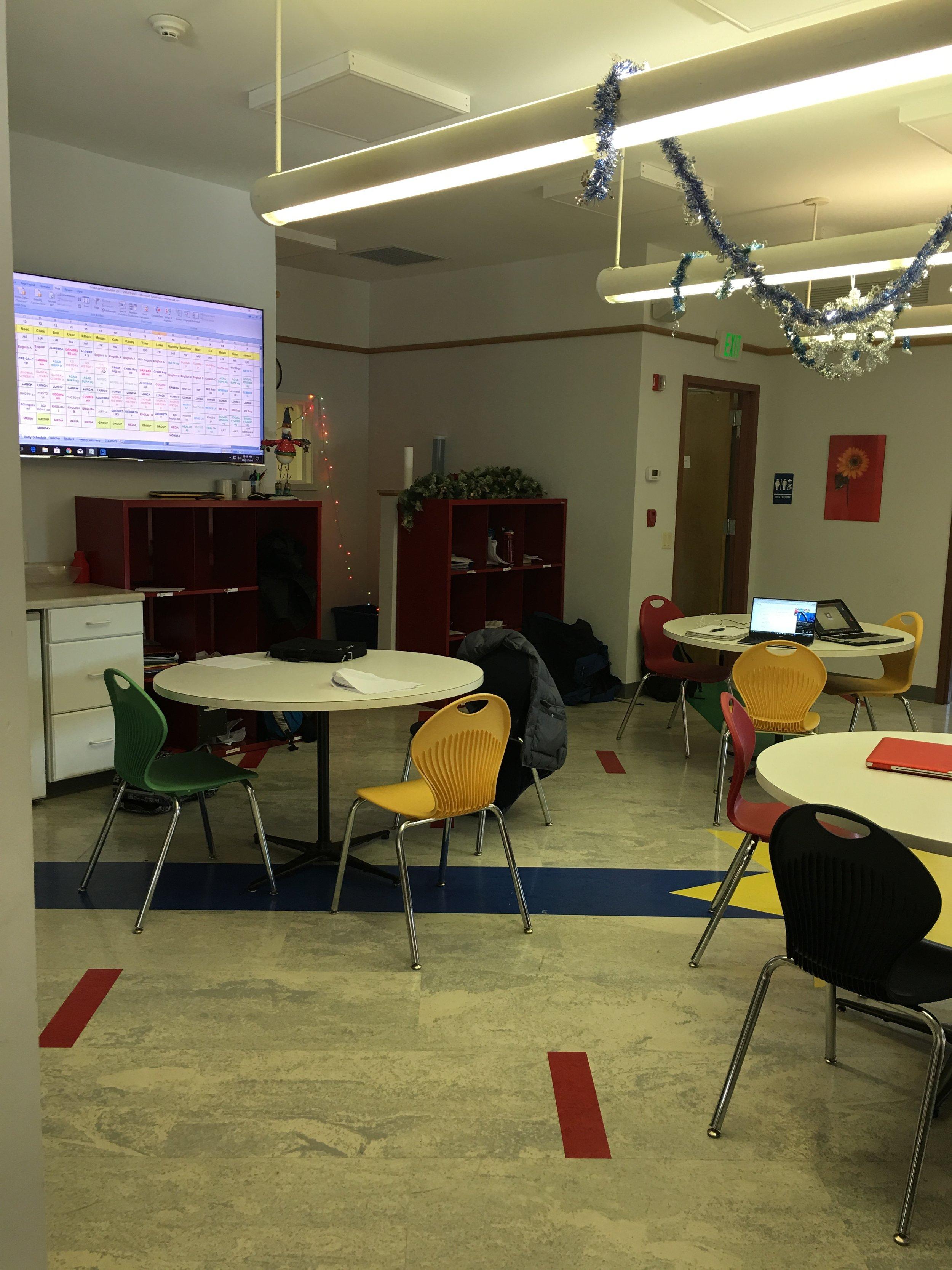 Westfield Day School's lunch room. Photo by Ilene B. Miller