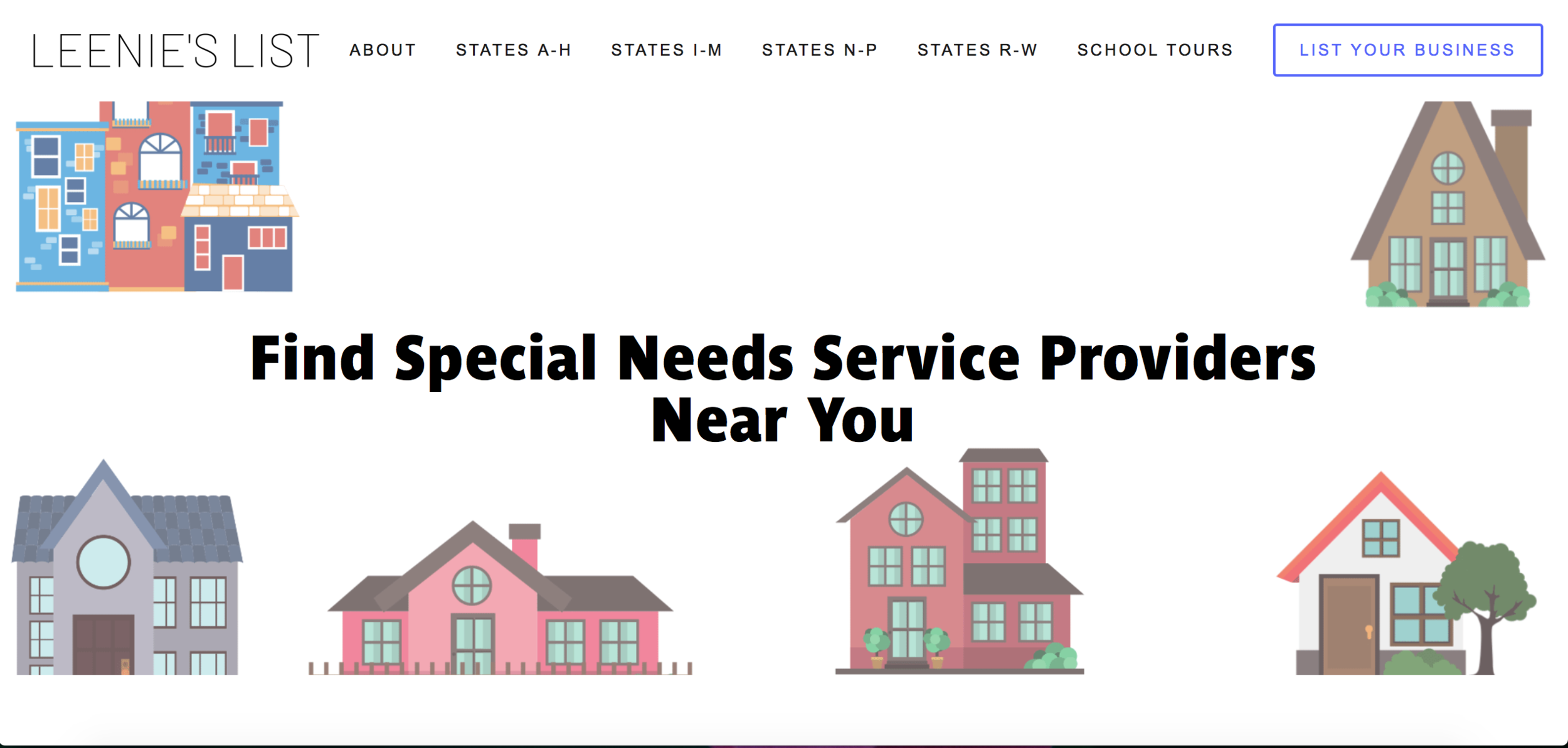 Leenie's List is the ultimate directory of providers, programs and schools for families with special needs children.