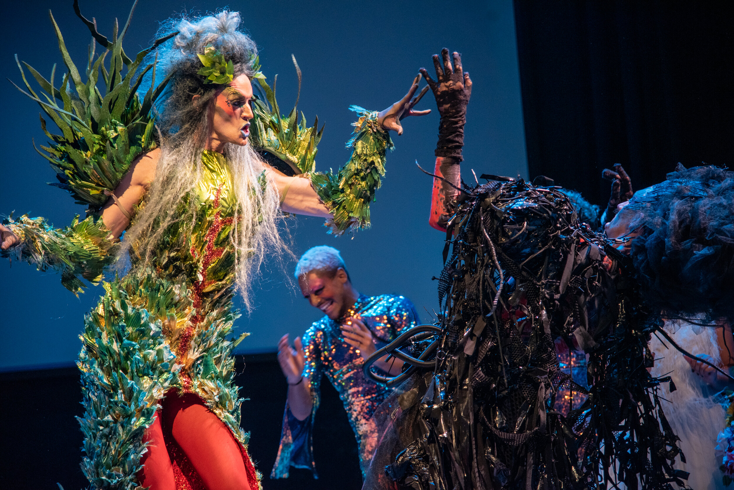 """HOT MAMA - Singing Gays Saving GaiaOctober 30-31, 2019Roulette, BrooklynHeartbeat's beloved tradition of mixing opera, drag, and pastiche returns to Roulette. This year, we celebrate Mother Earth in all her beauty and biodiversity. What will happen when Gaia herself confronts the terrifying Monster of Climate Collapse? Meltdown or salvation? Through virtuosic renditions of arias by Wagner, Vivaldi, Bernstein, Adams, and more, this extravaganza confronts the ultimate drama of our day. Expect operatic emissions, high """"C's"""", and polar baritones!"""
