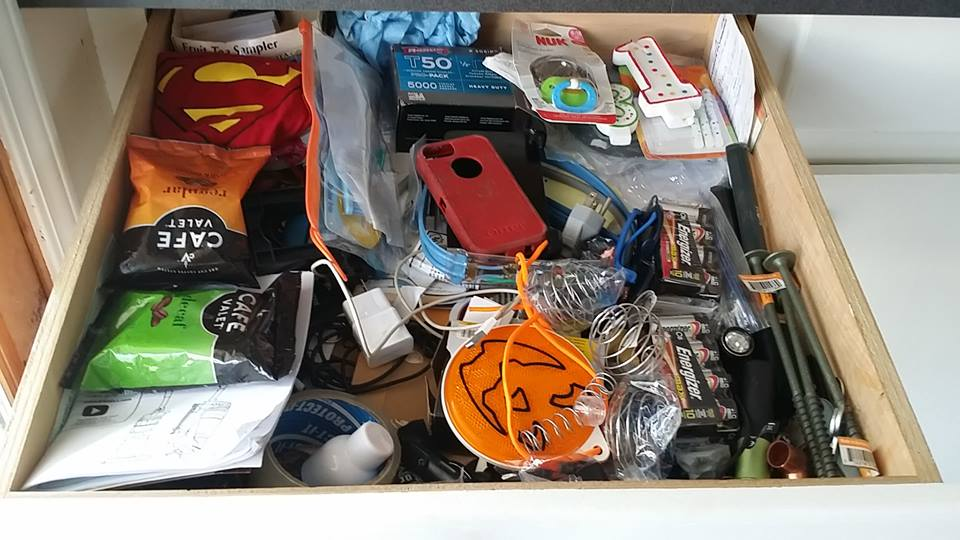 This junk drawer belongs to the Szabo Household. All rights reserved.