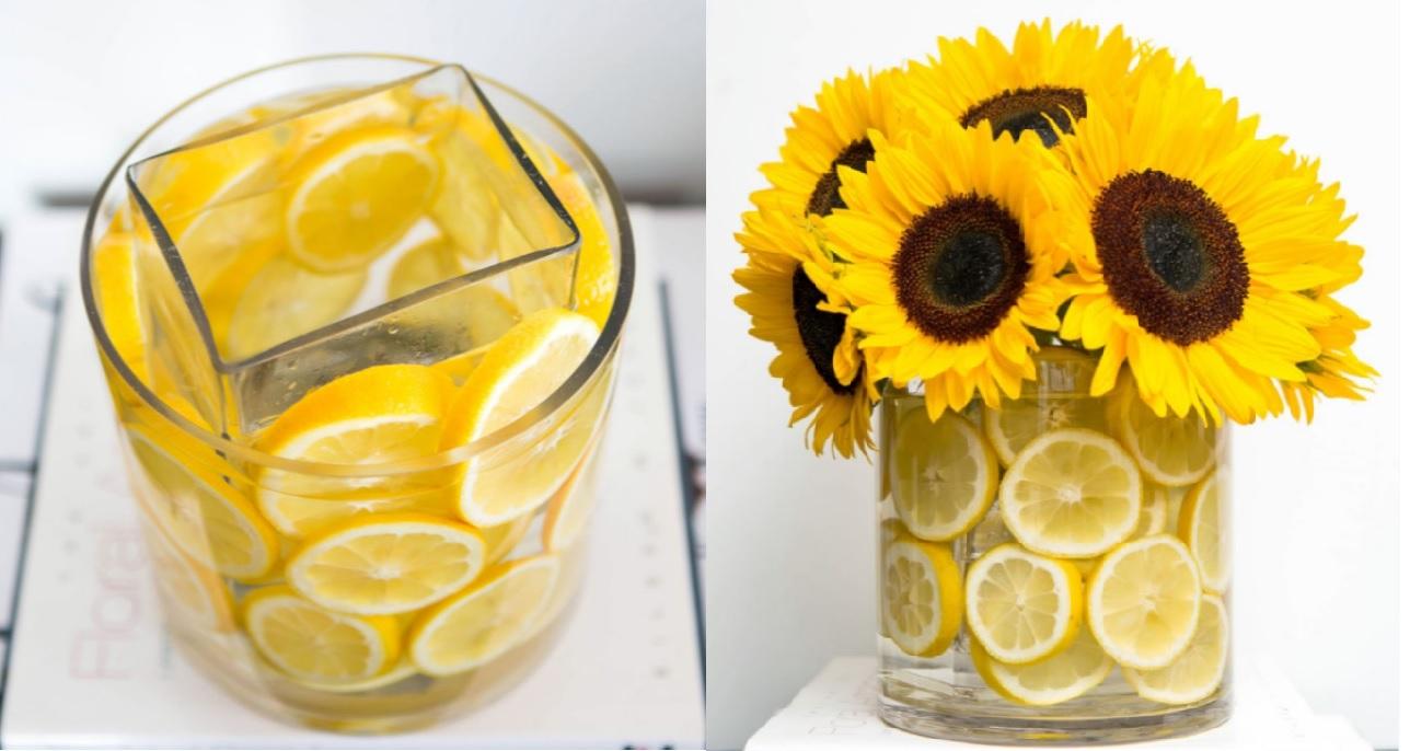 Sunflower Lemon Vase