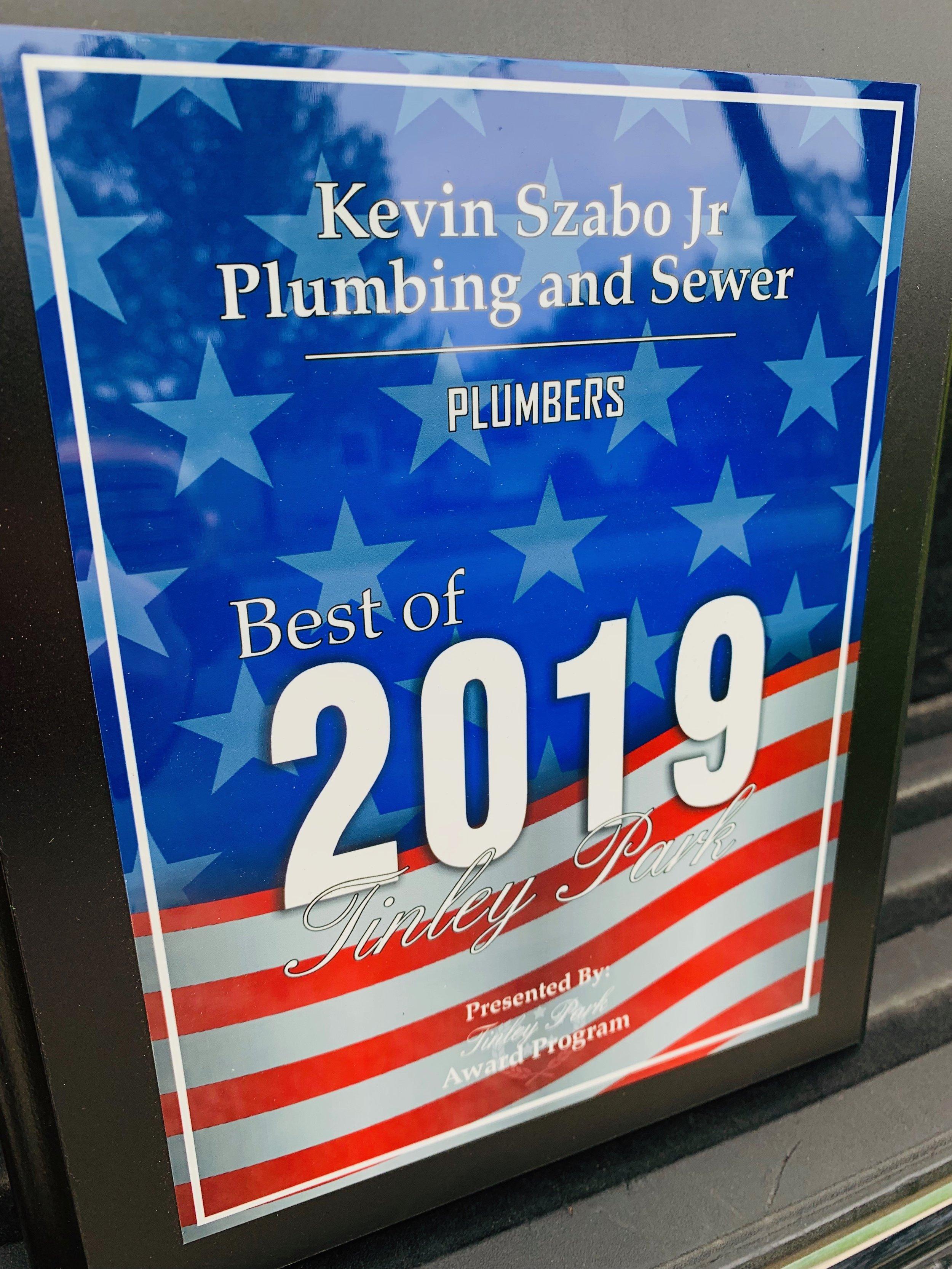 2019 Best Plumber in Tinley Park
