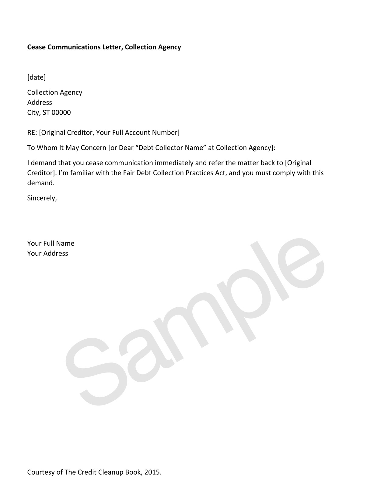 Sample Dispute Letter To Collection Agency from images.squarespace-cdn.com