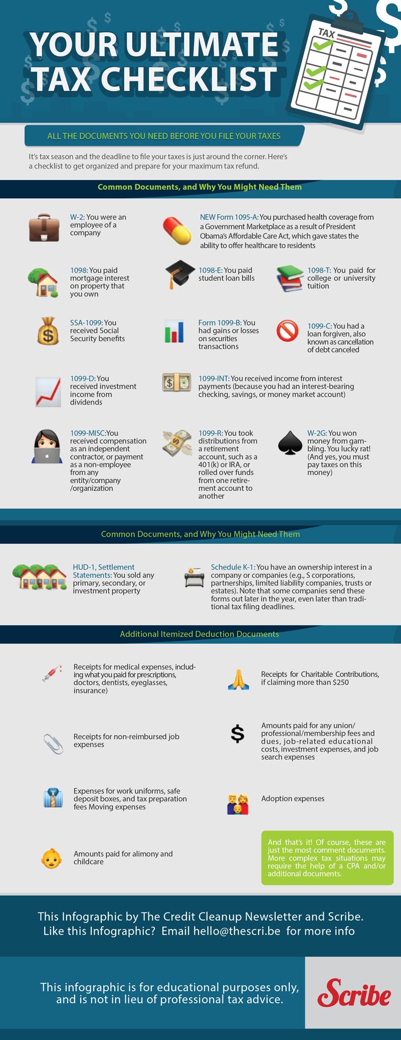 Ultimate Tax Checklist in Emojis