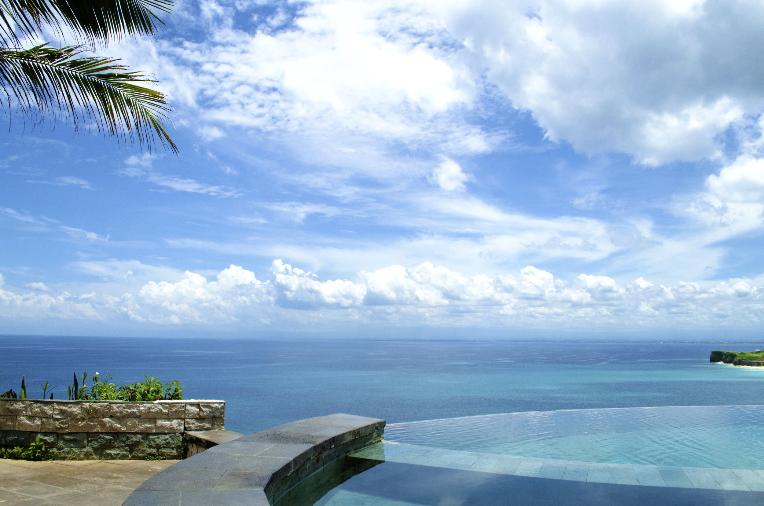 View from my favorite infinity pool in Bali (not pictured the feisty monkeys that tried to steal our belongings)