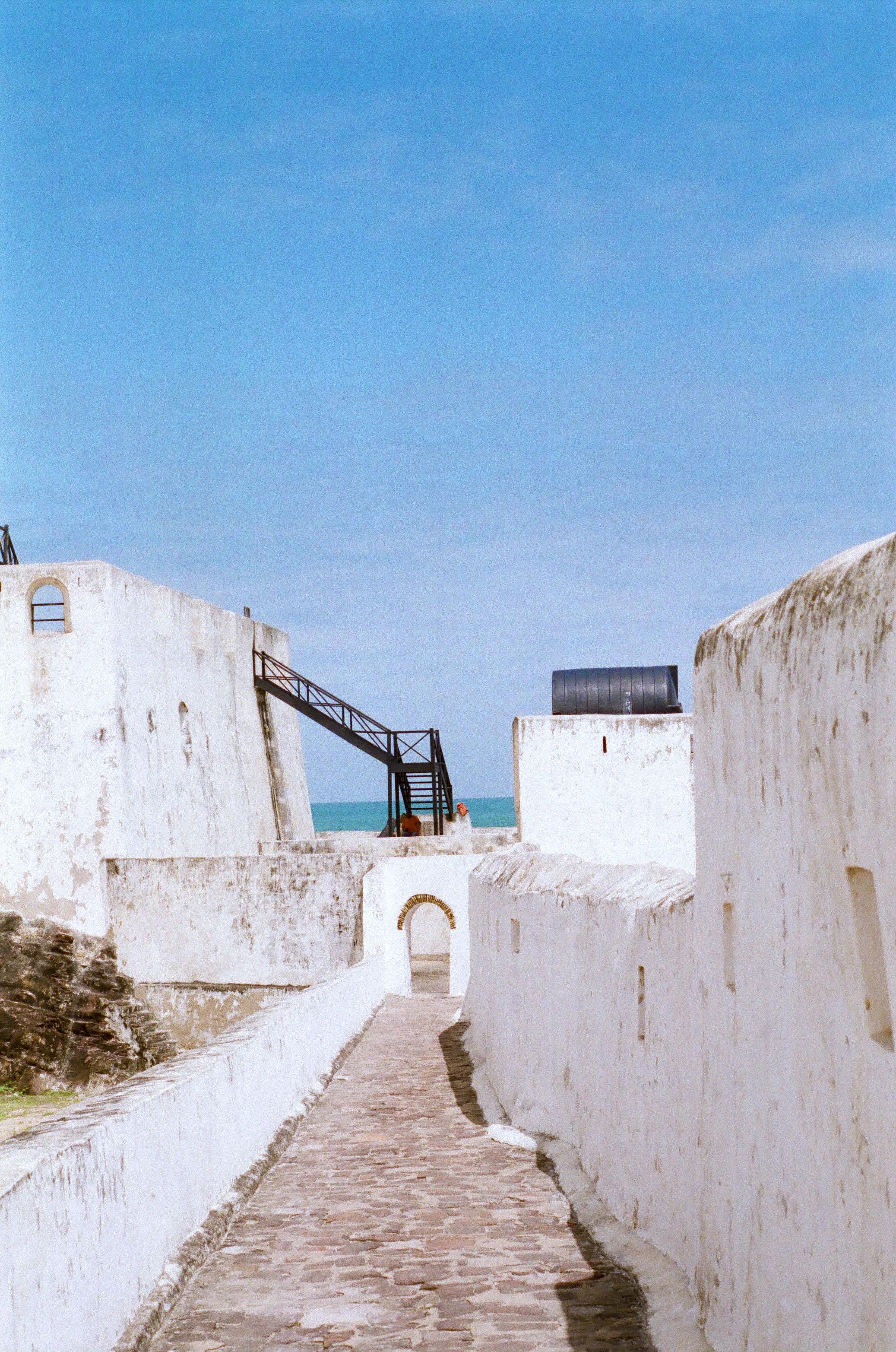 Bridge that leads to the restrooms at Elmina Castle