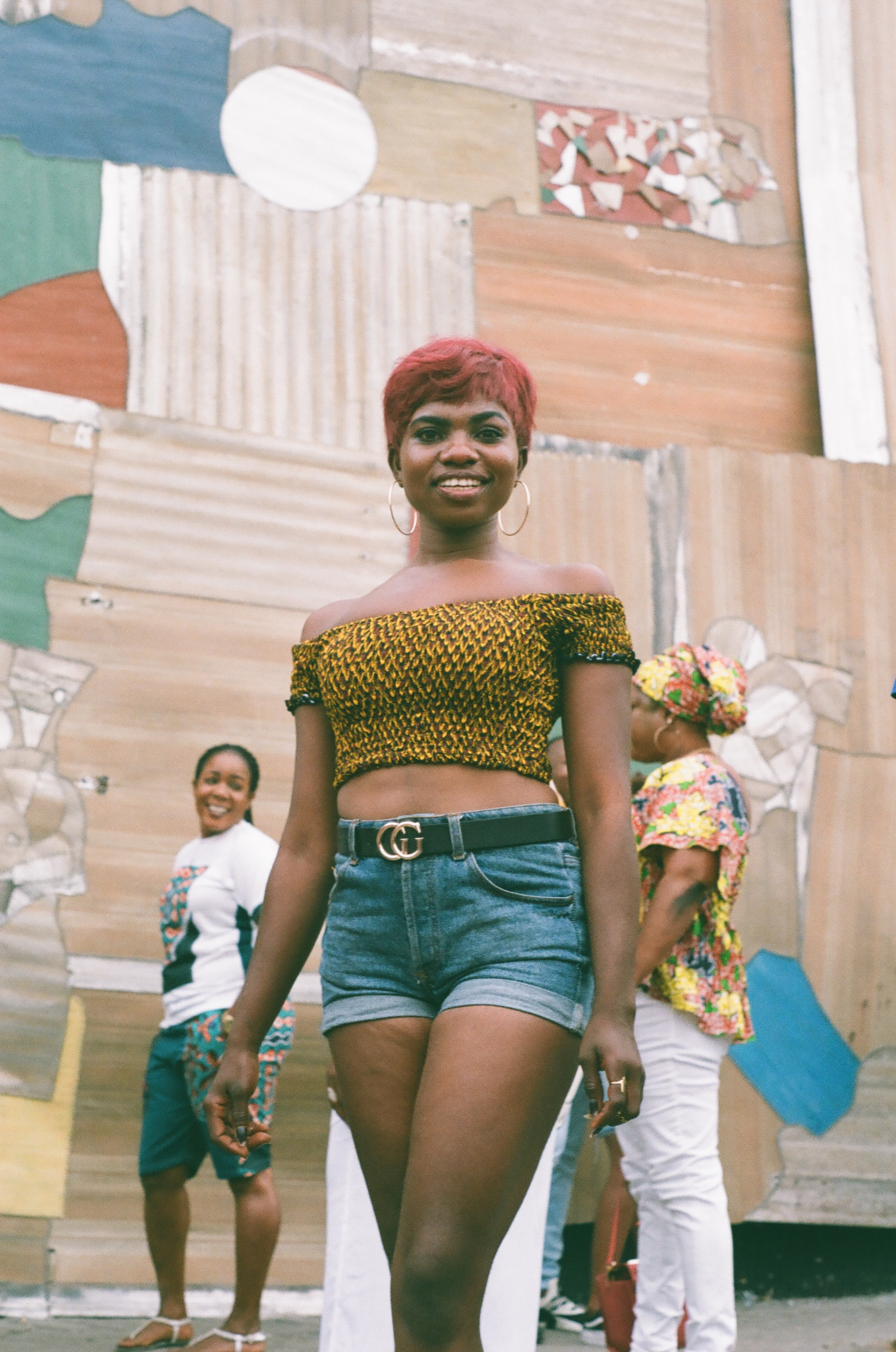 Tessy, a festival goer with impeccable style