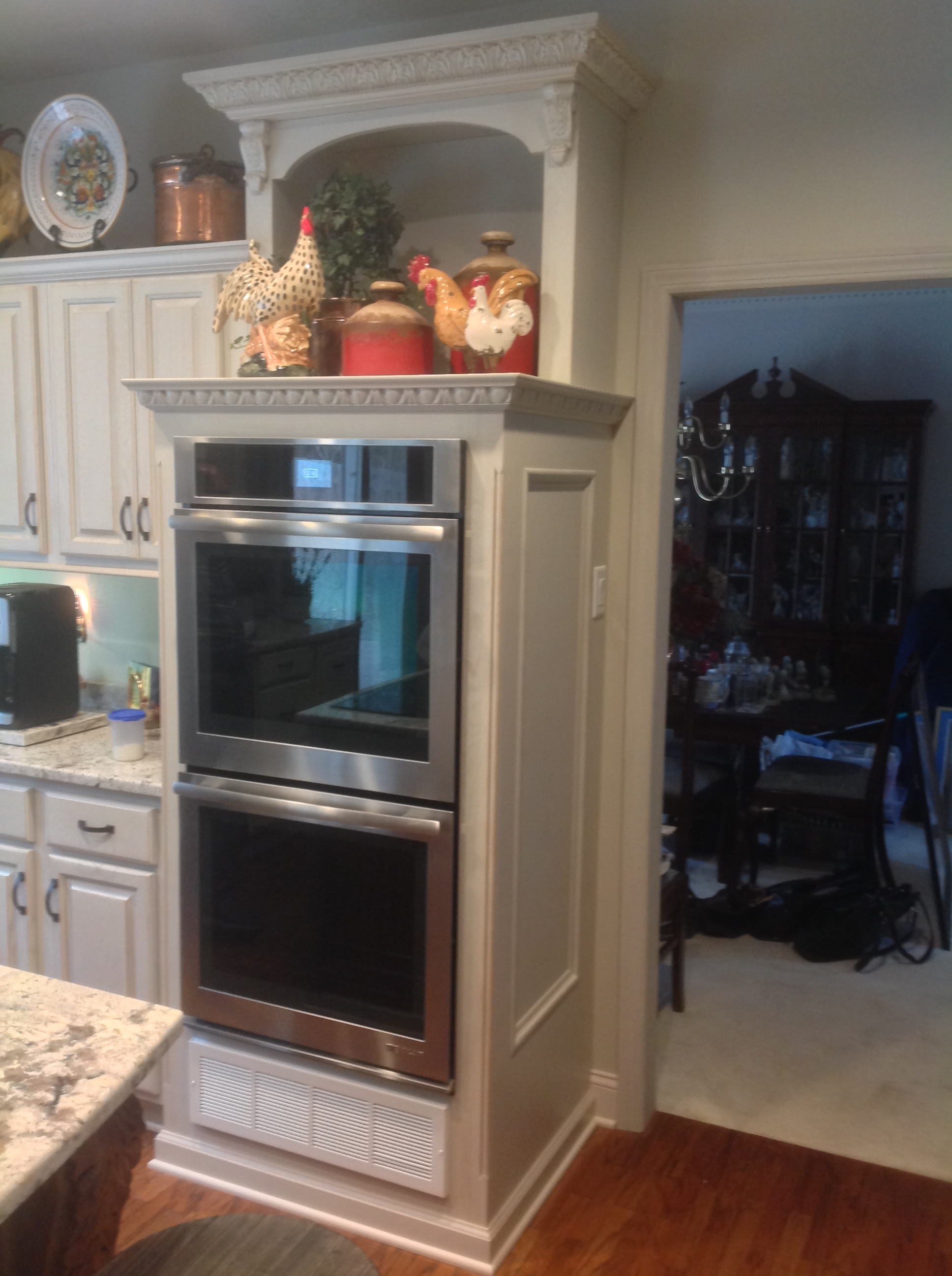 custom made wall oven cabinet