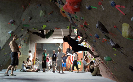 Head over to Prospect Heights to engage your forearms and core to go bouldering